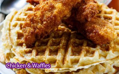 Chicken & Waffles Breakfast